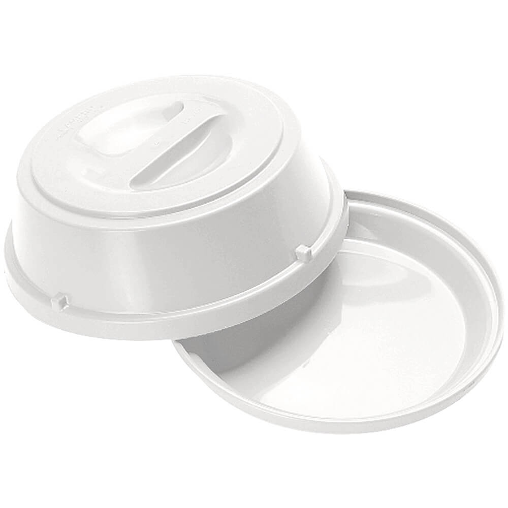 "White, Heat Keepers for 9"" Plates, Base and Cover 6/PK"