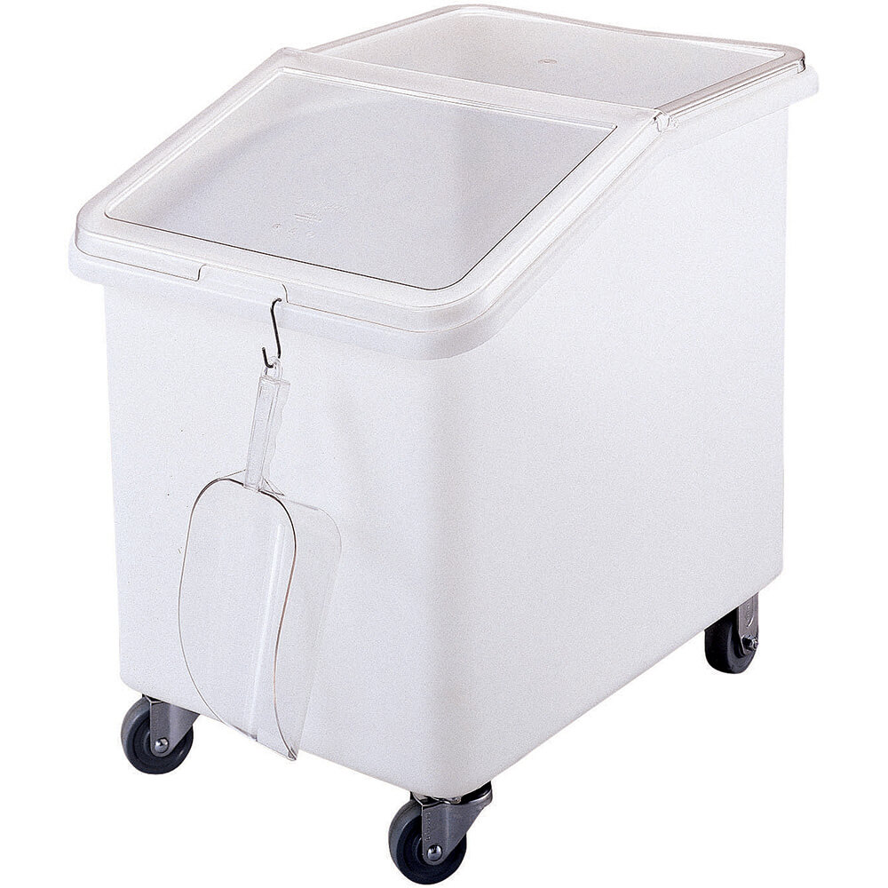 White, Large Storage Ingredient Bin, 37 Gallon Capacity