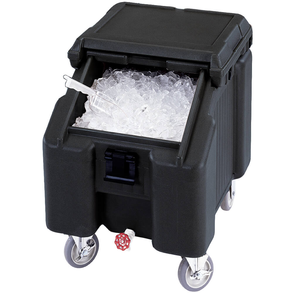 Black, Ice Bin / Caddy, 100 Lb. Capacity, 2 Swivel Casters