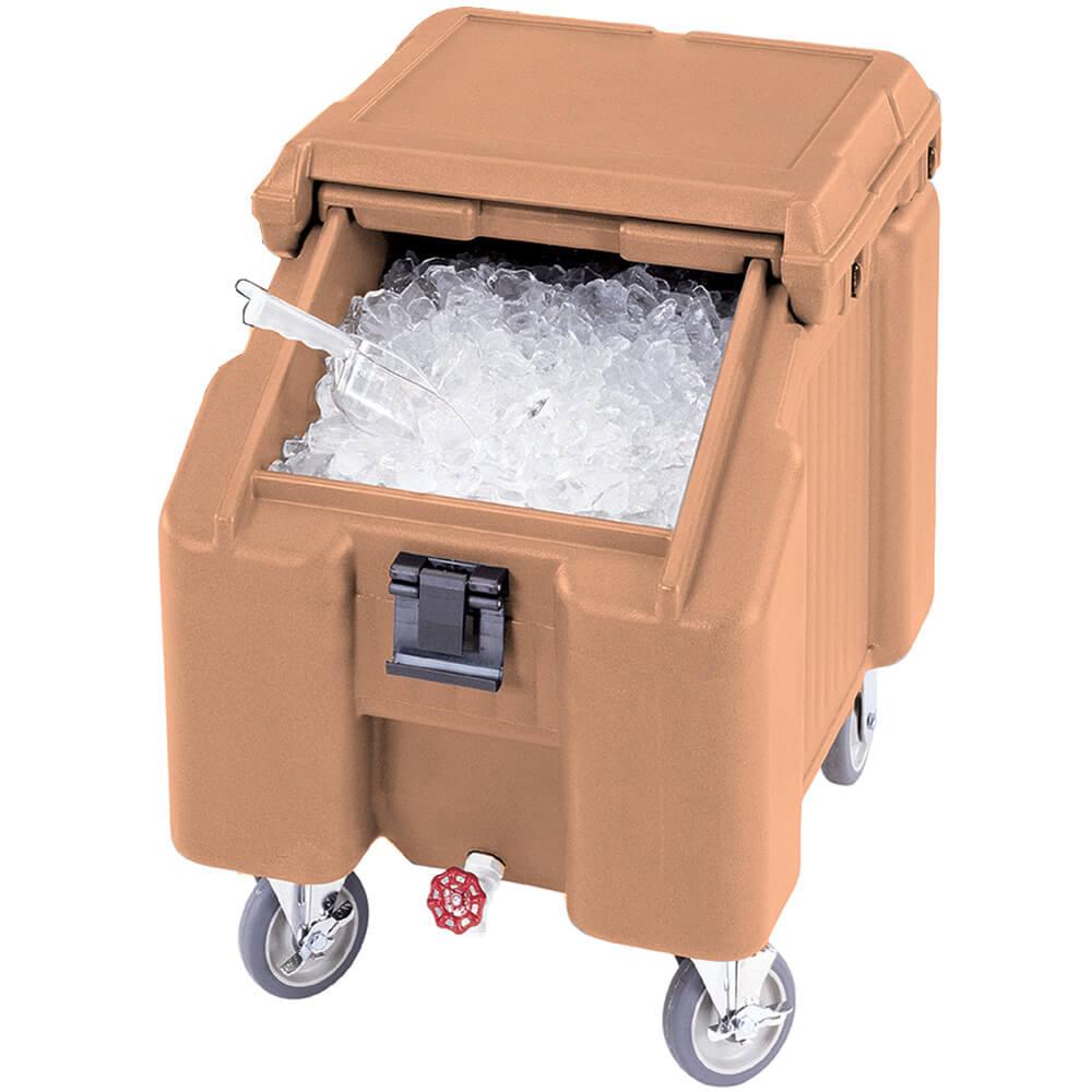 Coffee Beige, Ice Bin / Caddy, 100 Lb. Capacity, 2 Swivel Casters
