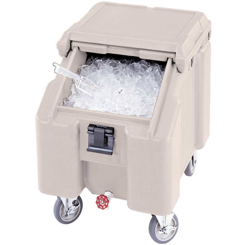 Gray, Ice Bin / Caddy, 100 Lb. Capacity, 2 Swivel Casters
