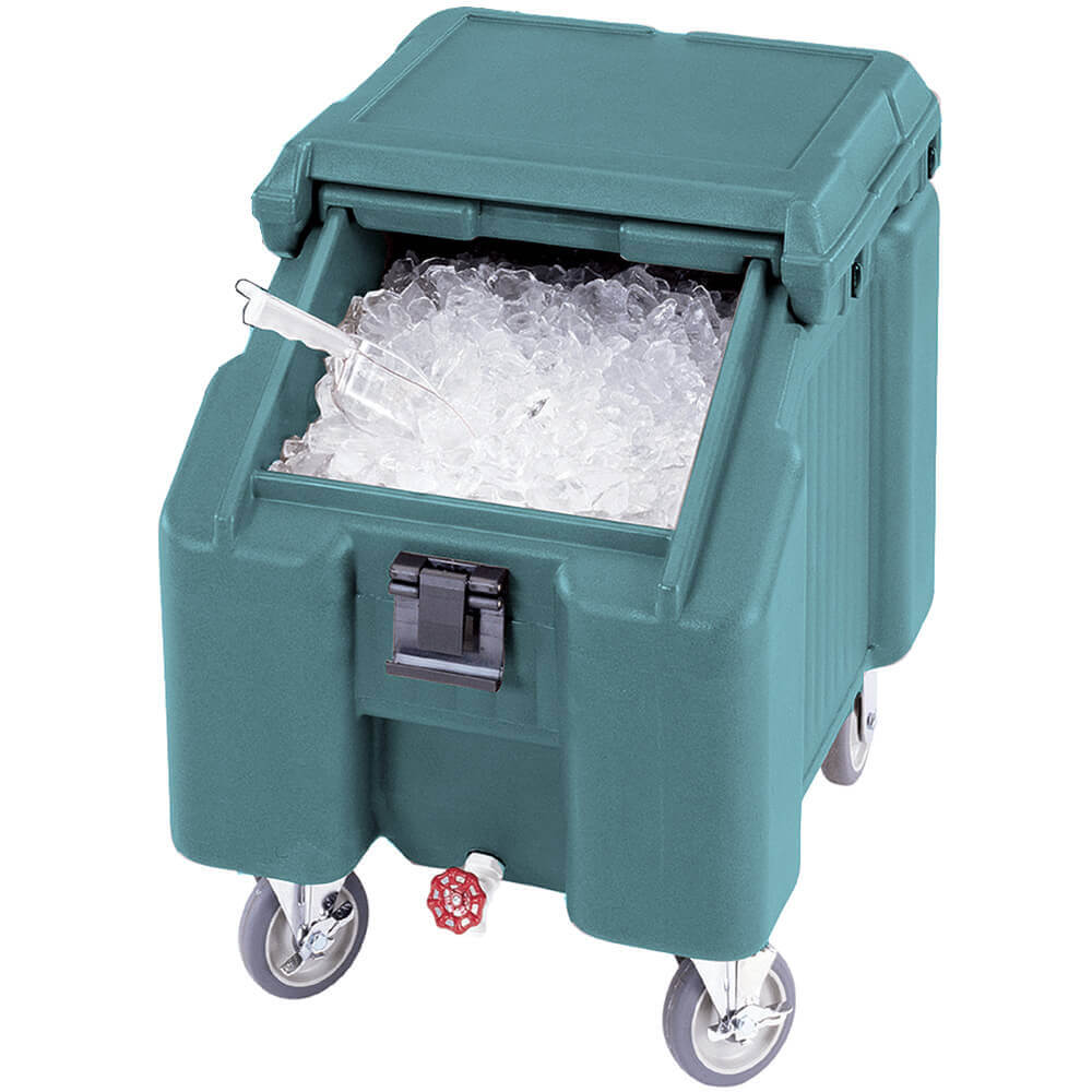 Granite Green, Ice Bin / Caddy, 100 Lb. Capacity, 2 Swivel Casters