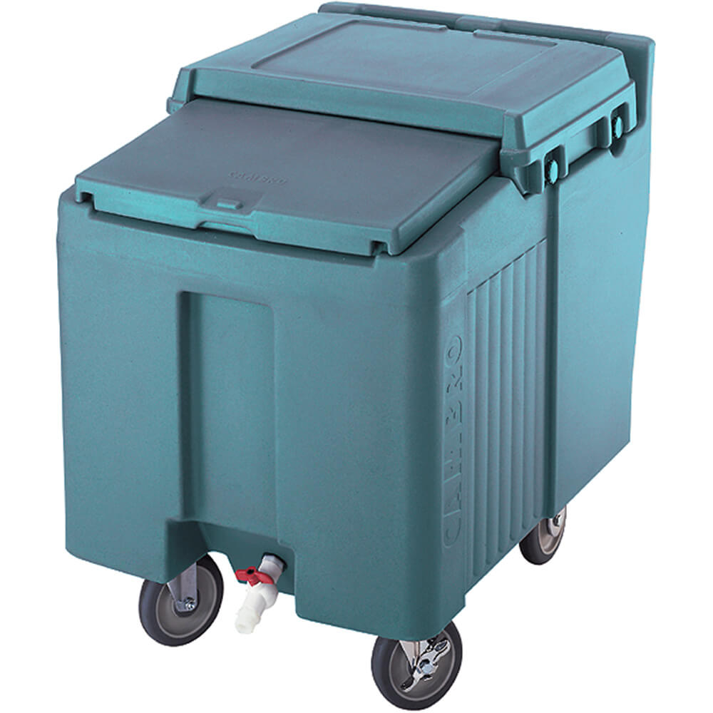 Slate Blue, Ice Bin / Caddy, 125 Lb. Capacity, 2 Swivel Casters