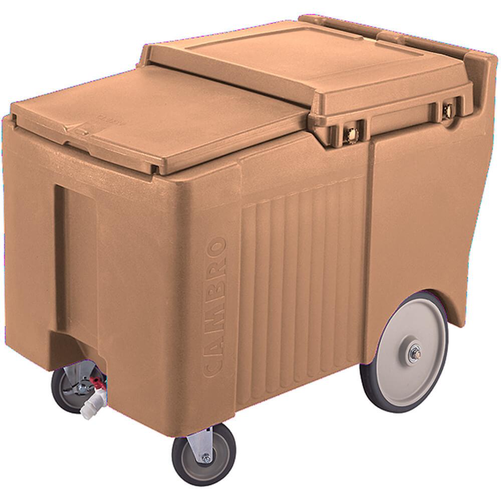 "Coffee Beige, Ice Bin / Caddy, 175 Lb. Capacity, 10"" Easy Wheels"