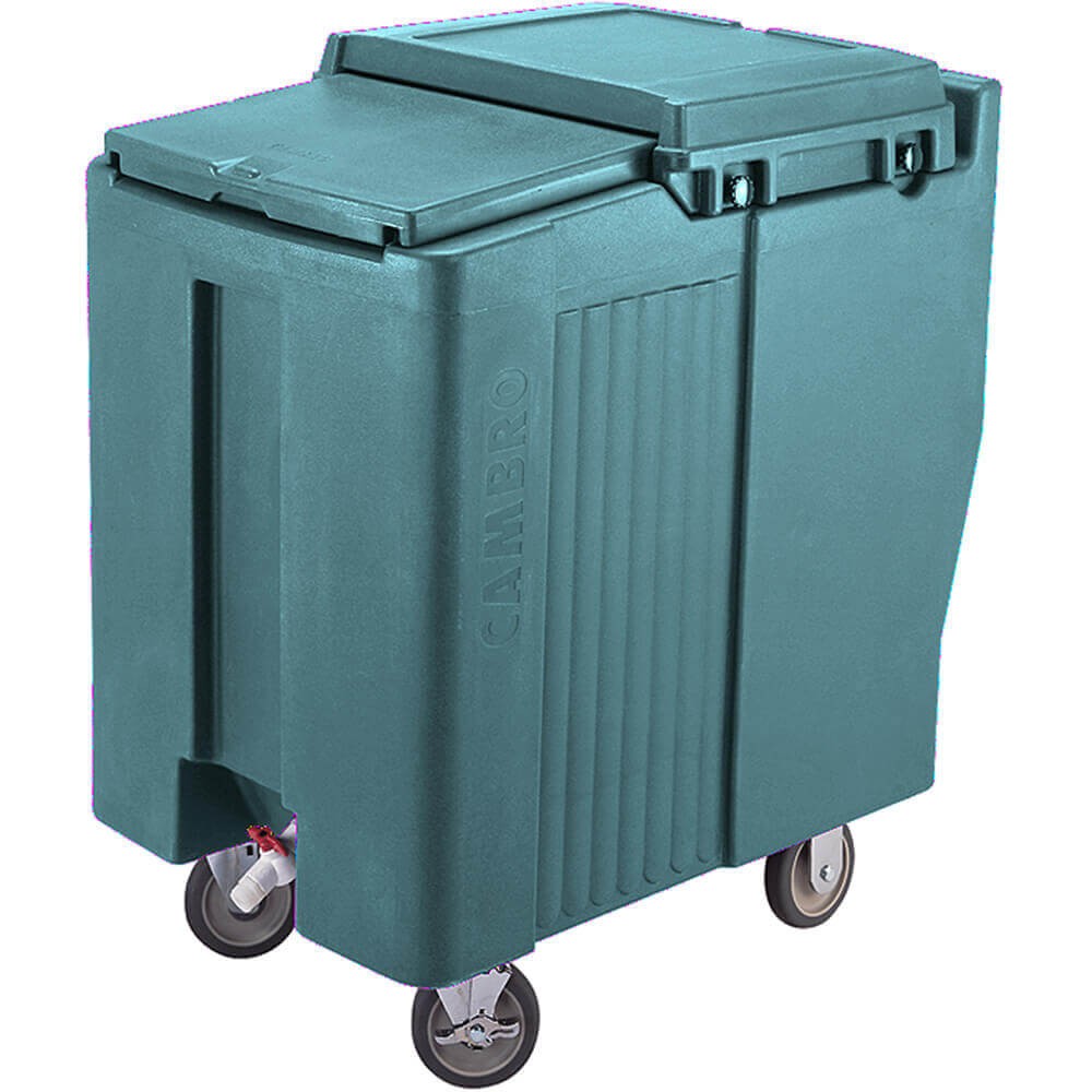 Granite Green, Tall Ice Bin / Caddy, 125 Lb. Capacity, 2 Swivel Casters
