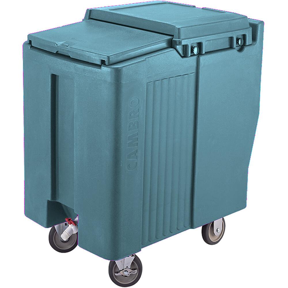 Slate Blue, Tall Ice Bin / Caddy, 175 Lb. Capacity, 2 Swivel Casters
