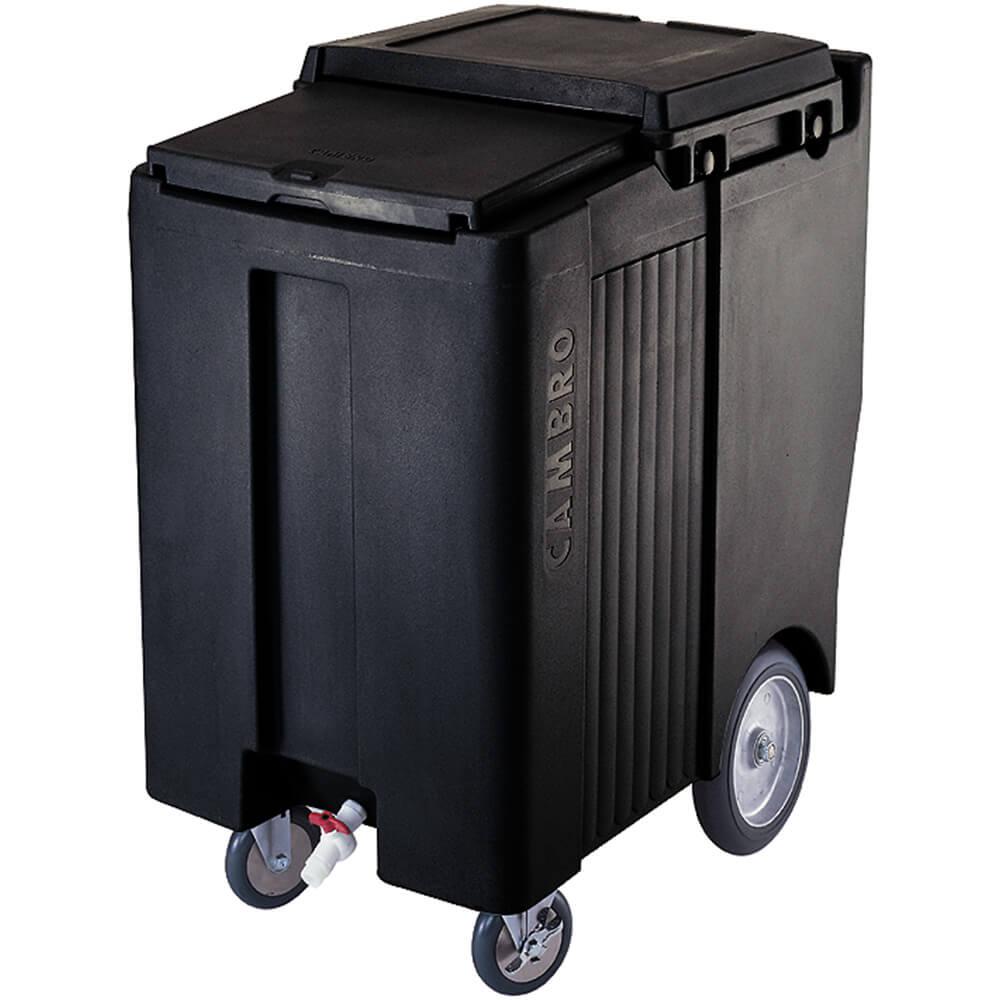 "Black, Tall Ice Bin / Caddy, 200 Lb. Capacity, 10"" Easy Wheels"