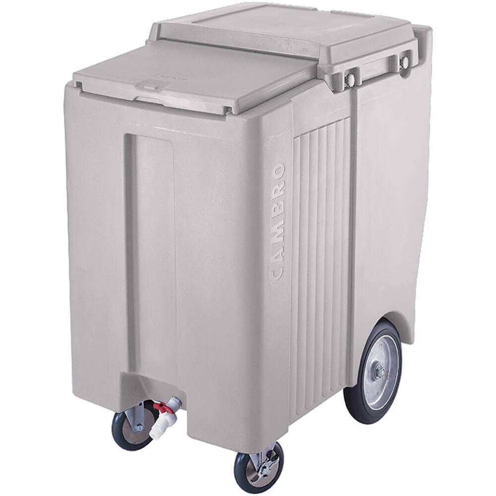 "Gray, Tall Ice Bin / Caddy, 200 Lb. Capacity, 10"" Easy Wheels"