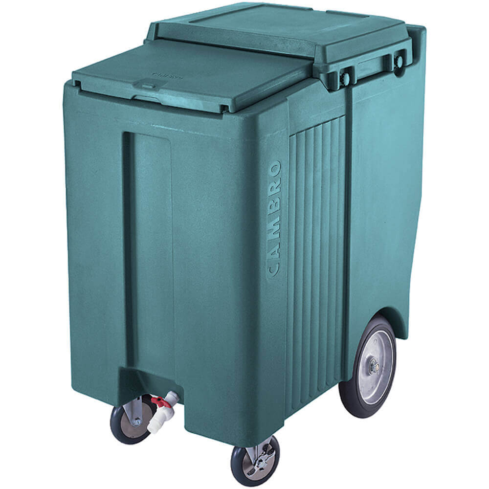 "Granite Green, Tall Ice Bin / Caddy, 200 Lb. Capacity, 10"" Easy Wheels"