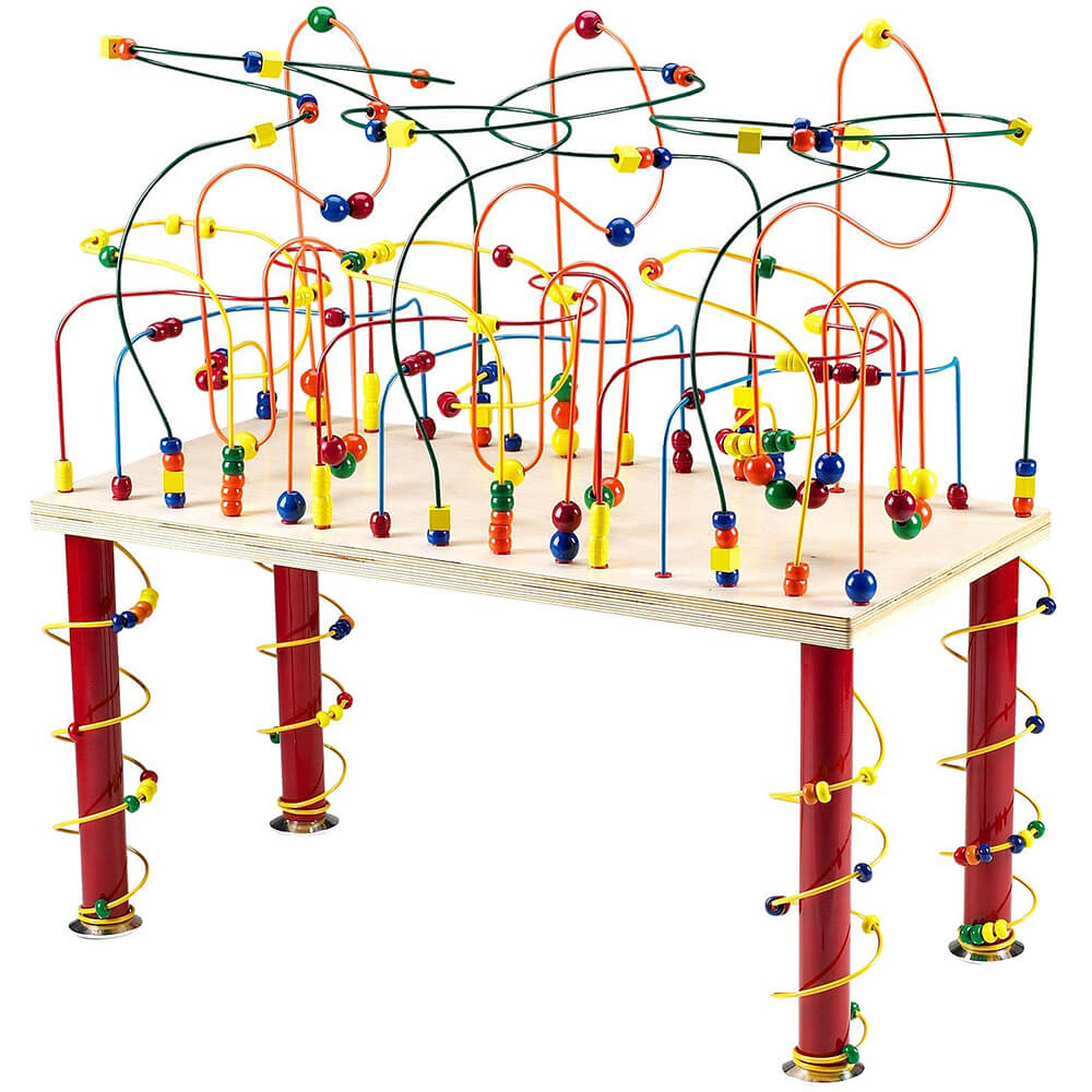 Jungle Roller Coaster, Wire and Bead Table
