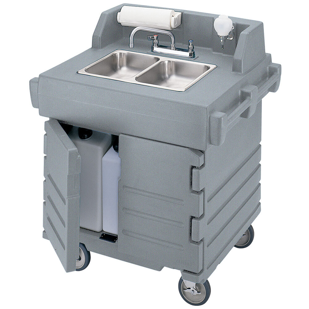 Granite Gray, Portable Hand Sink Cart, Self-Contained, 110V