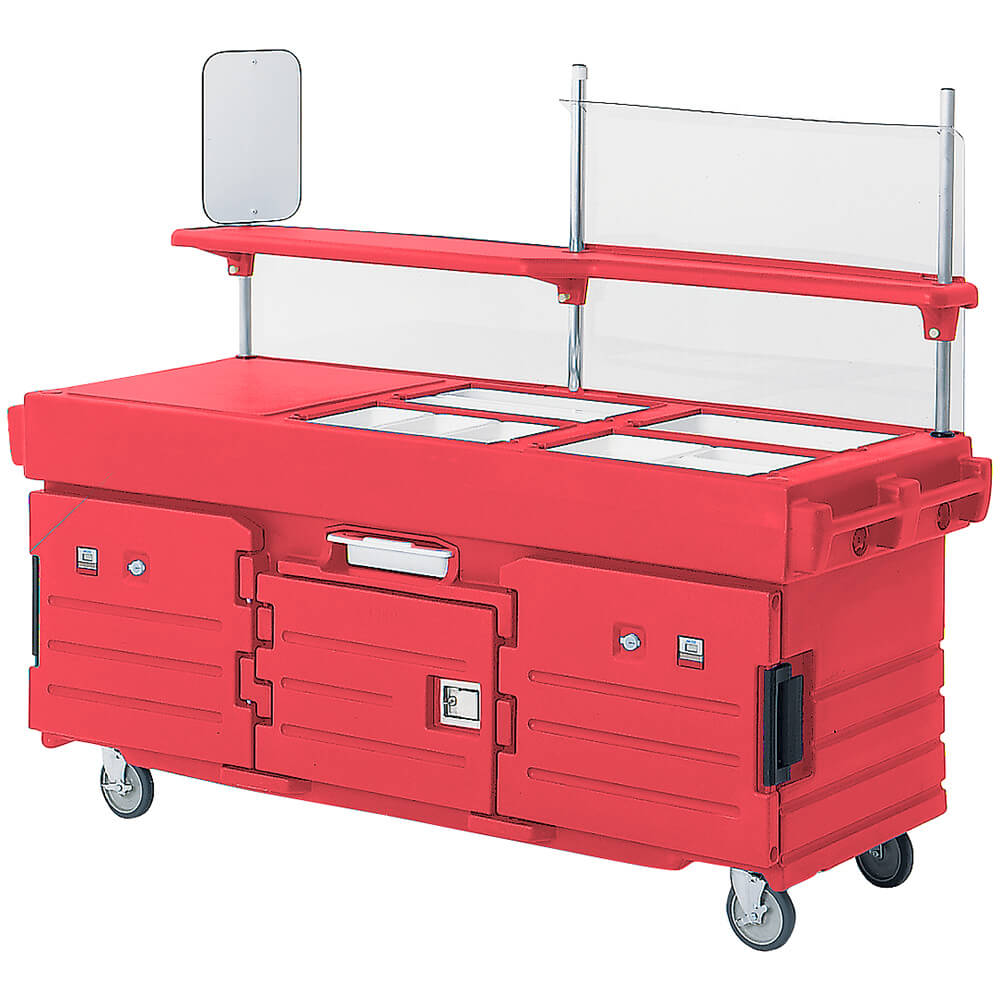 Hot Red, Mobile Food Kiosk, 4 Food Pan Wells