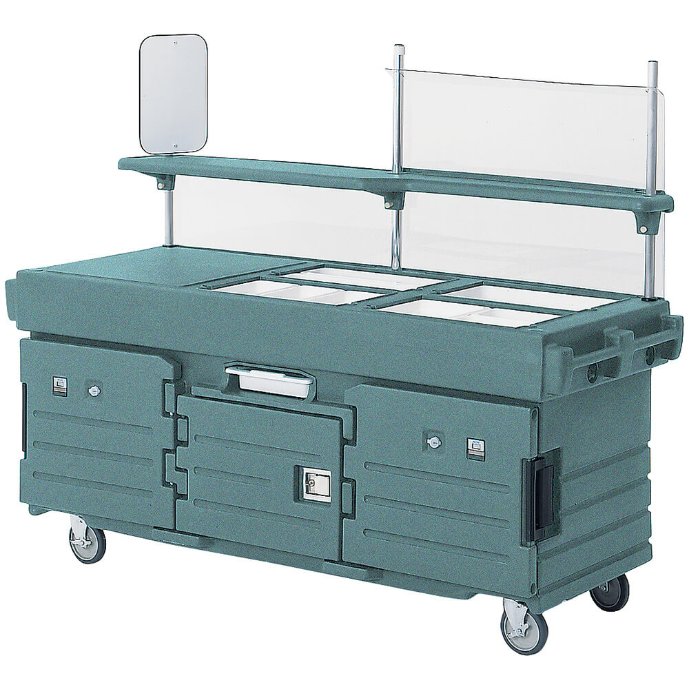 Granite Green, Mobile Food Kiosk, 4 Food Pan Wells