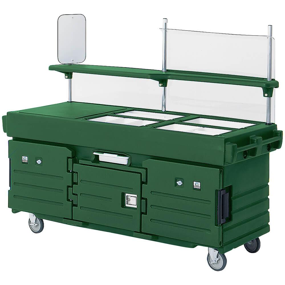 Cambro green mobile food kiosk 4 food pan wells kvc854 519 for Mobili kios