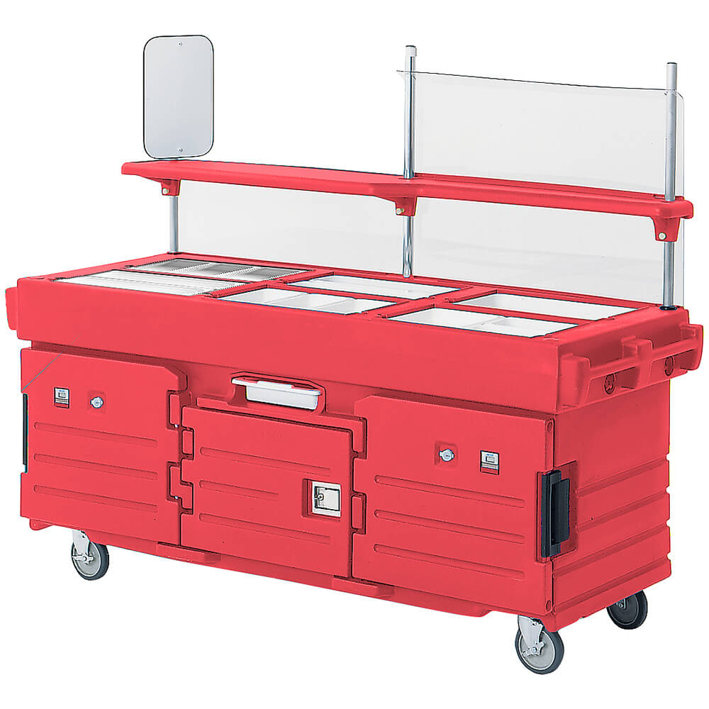 Hot Red, Mobile Food Kiosk, 6 Food Pan Wells