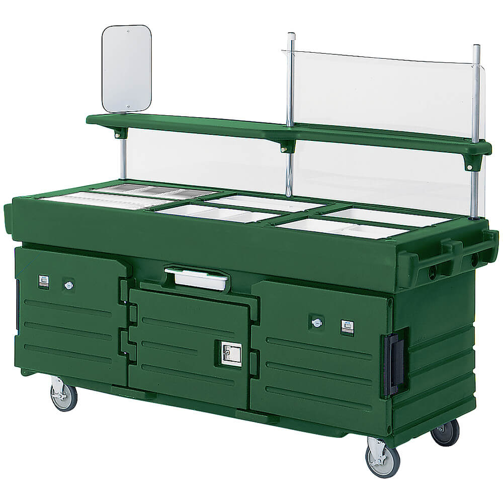 Green, Mobile Food Kiosk, 6 Food Pan Wells