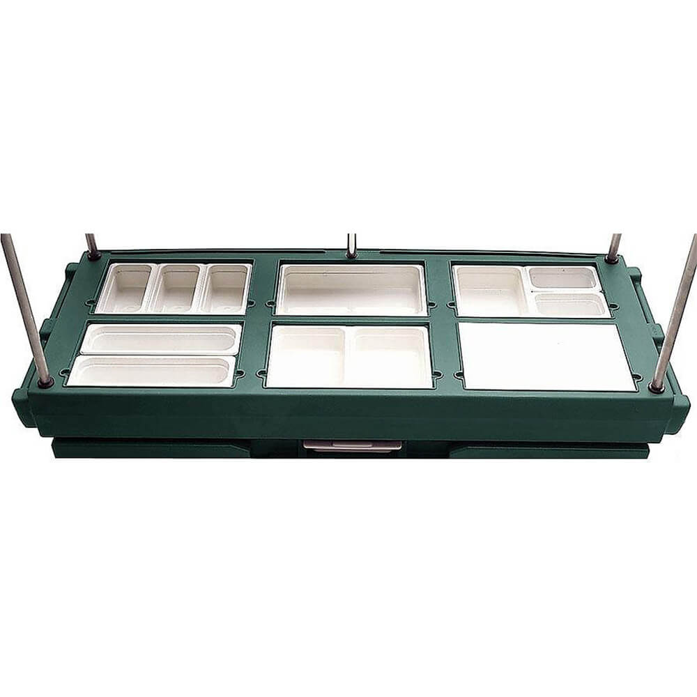 Green, Mobile Food Kiosk with Canopy, 6 Food Pan Wells View 3