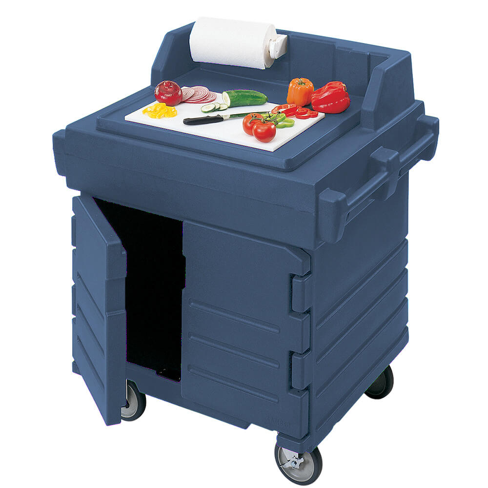 Navy Blue, Food Preparation Cart / Work Station