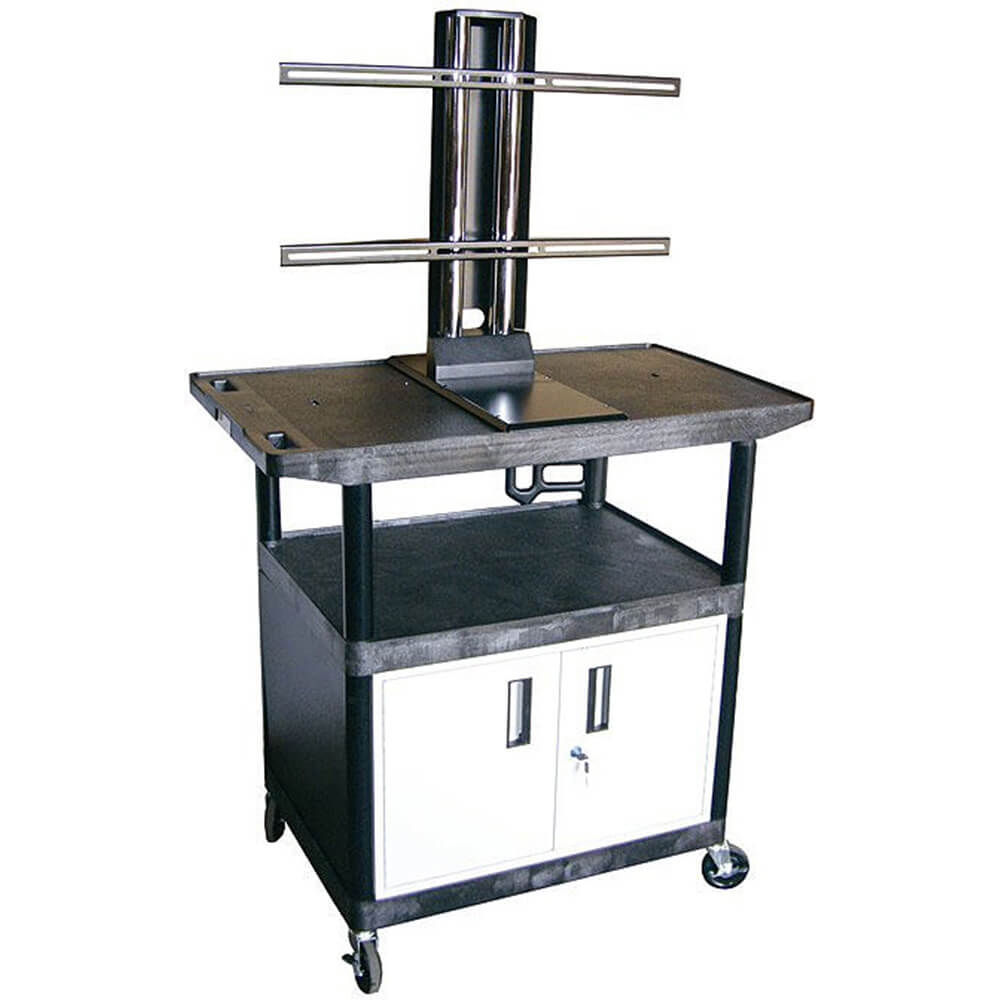 "40"" Tall Mobile Plasma/LCD Cart W/ Storage"