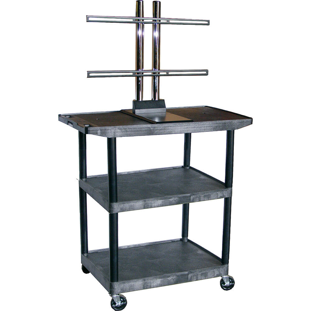 "40"" Tall Mobile Plasma/LCD Open Cart"