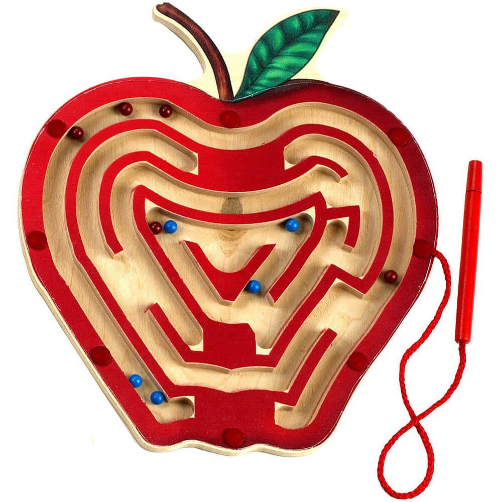 Magnetic Apple Maze Game