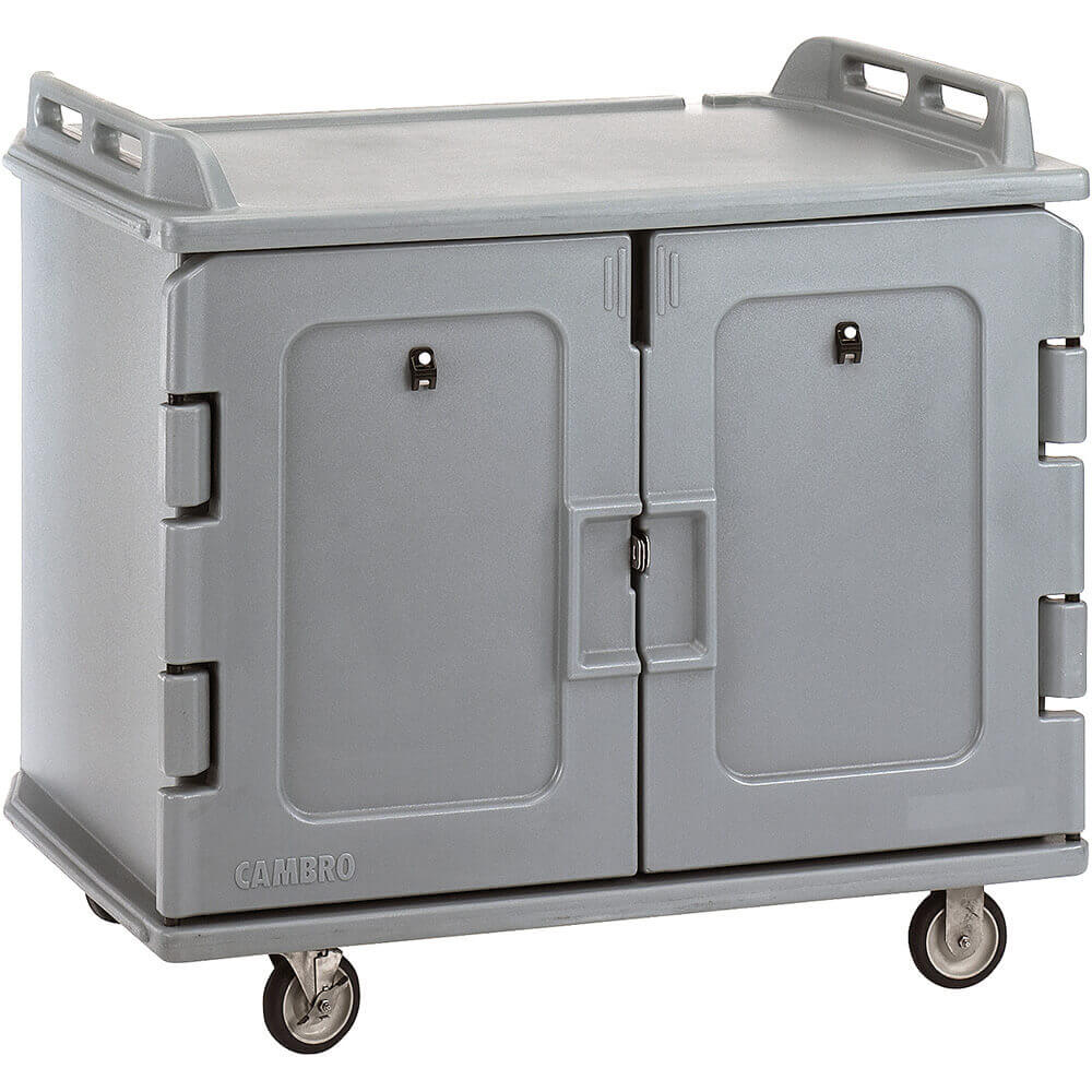 "Gray, Room Service / Meal Delivery Cart, 15"" x 20"" Trays View 2"
