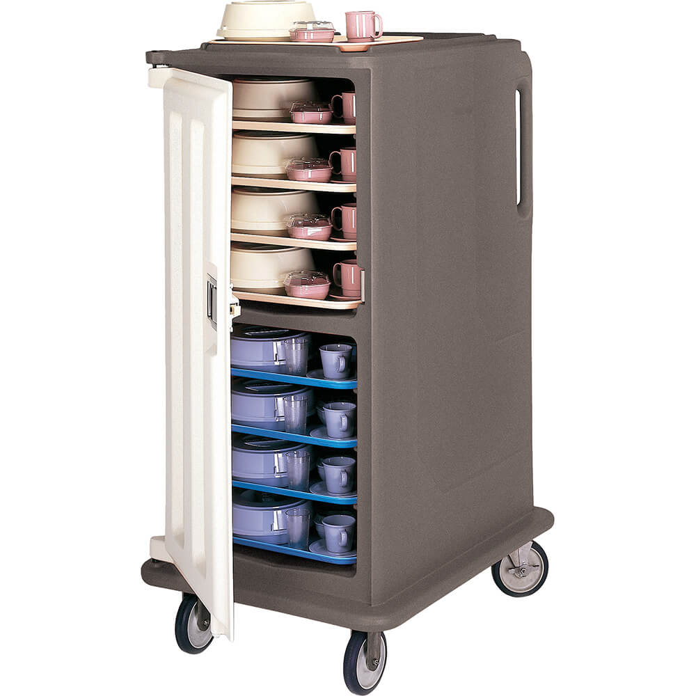 "Granite Sand, Tall Meal Delivery Cart, 15""x20"" Trays, 1 Door"