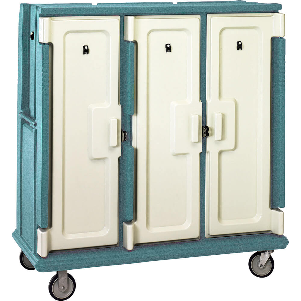 "Granite Green, Tall Meal Delivery Cart, 15""x20"" Trays, 3 Doors"