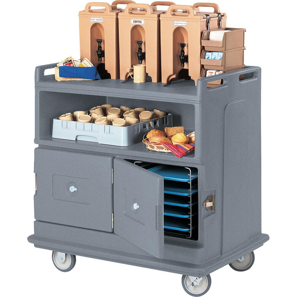 Granite Gray, Beverage Cart, Recessed Top