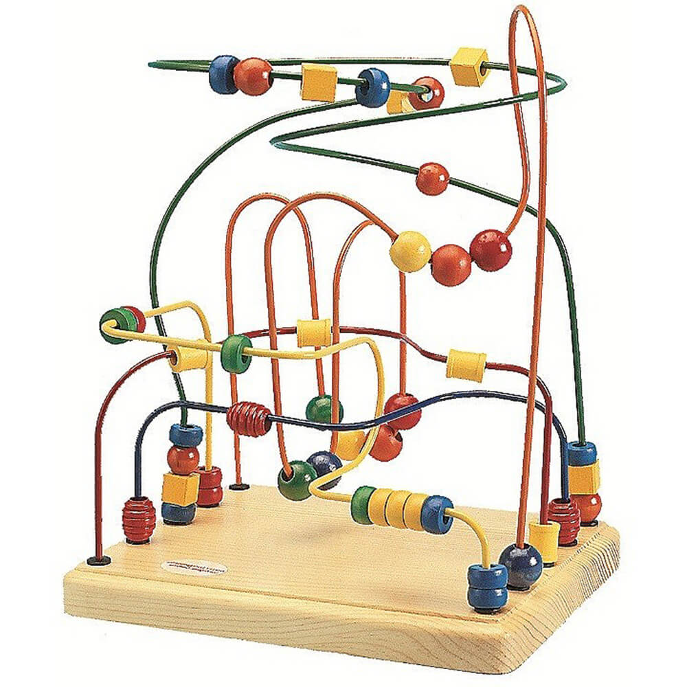 Mini Roller Coaster, Wire and Bead Toy