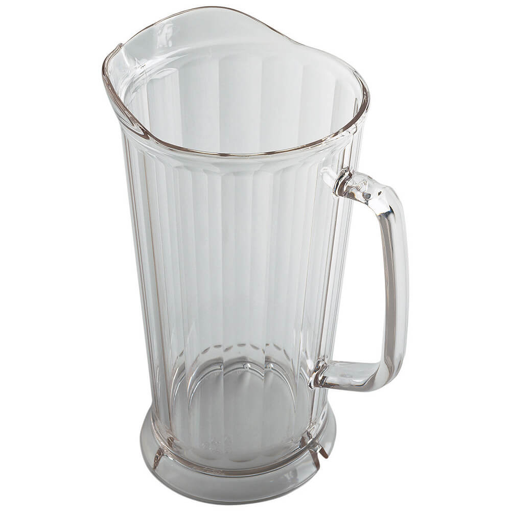 Clear, 64 Oz. Polycarbonate Pitcher, Drip-proof Spout, 6/PK