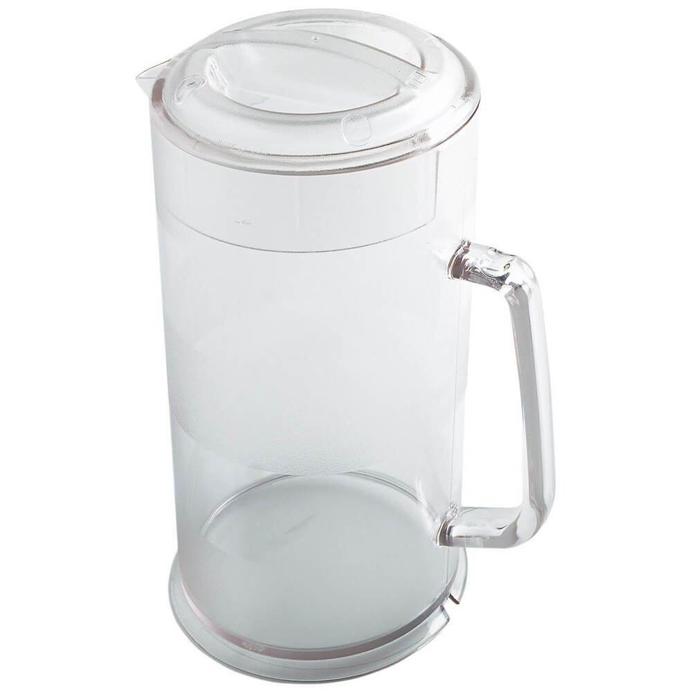 Clear, 64 Oz. Polycarbonate Pitcher with Lid, 6/PK