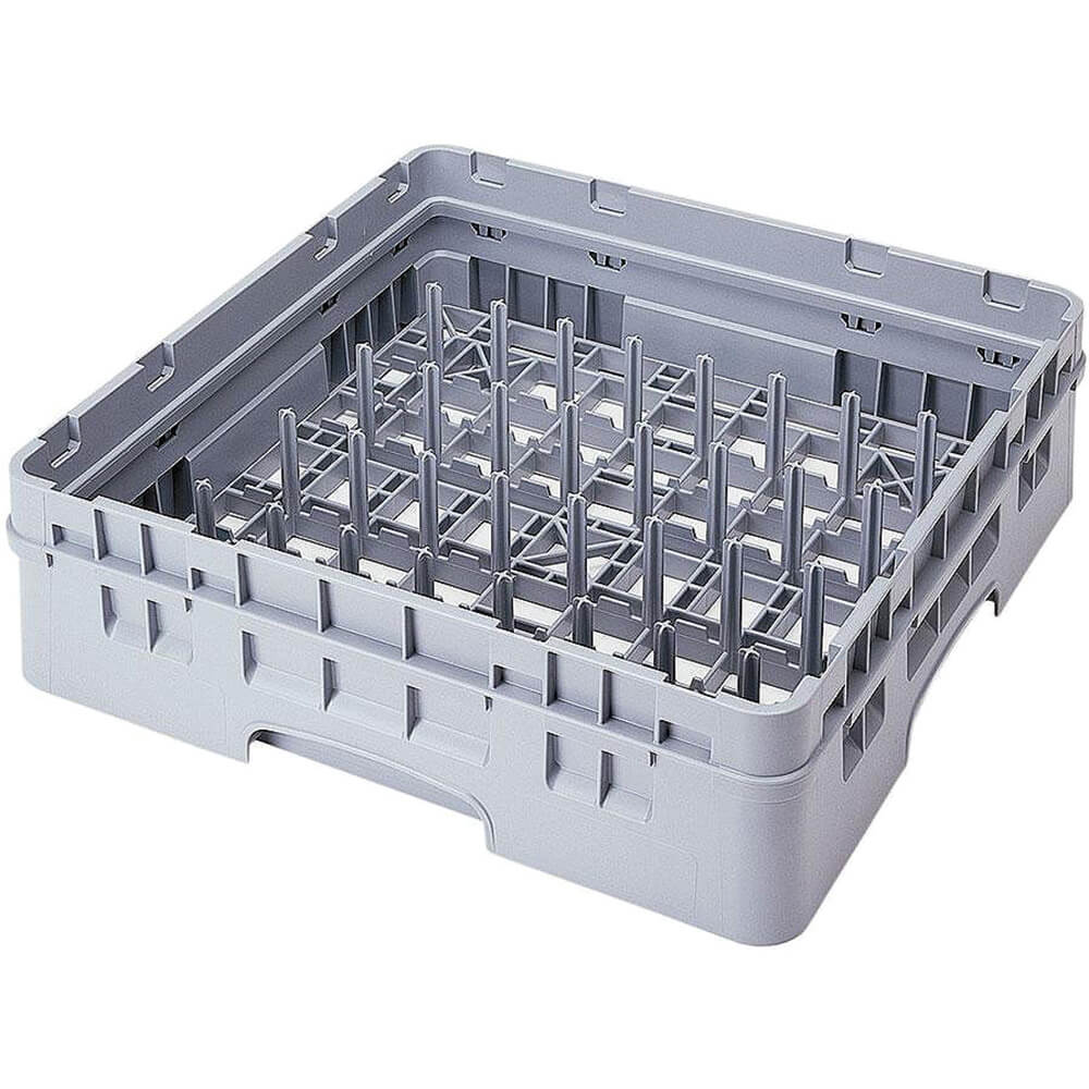 Soft Gray, 5 X 9 Peg Rack, Full Size Dish Rack, 1 Extender