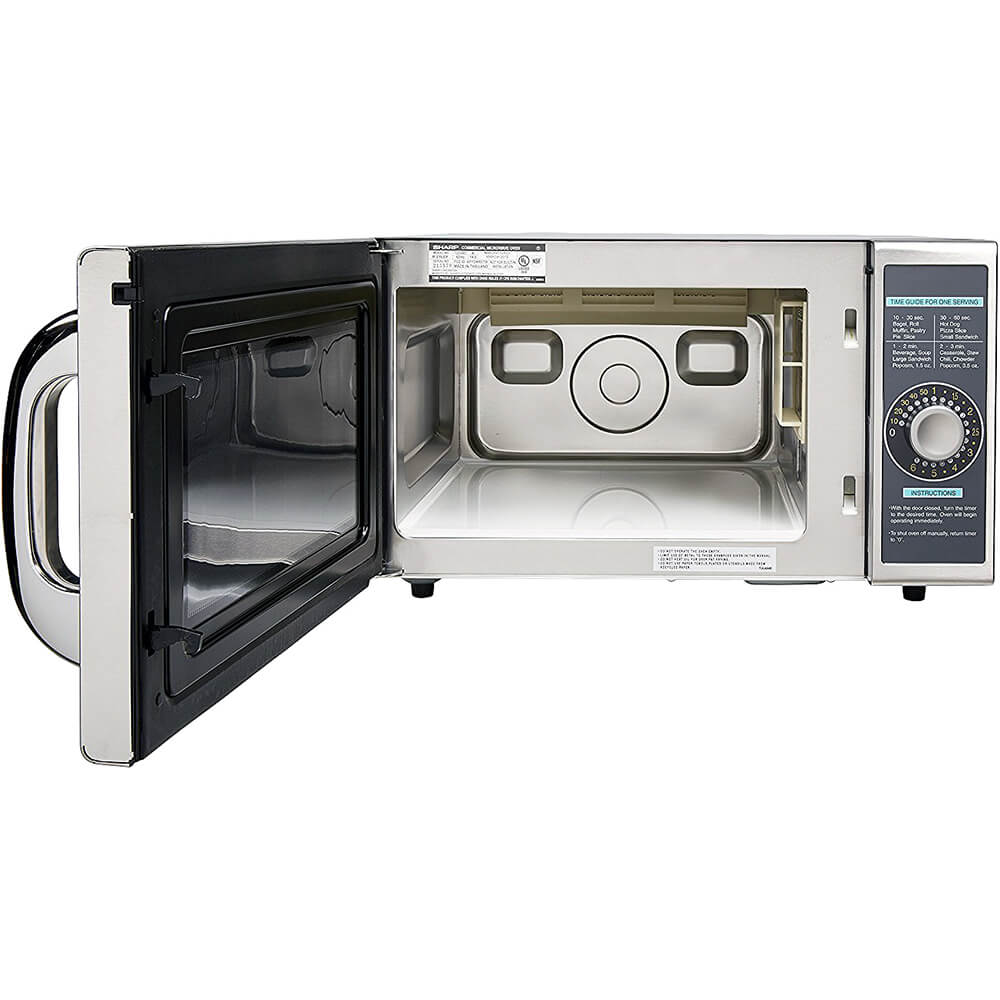 Gray, Medium Duty Commercial Microwave Oven, Dial Timer, 1000 W View 2