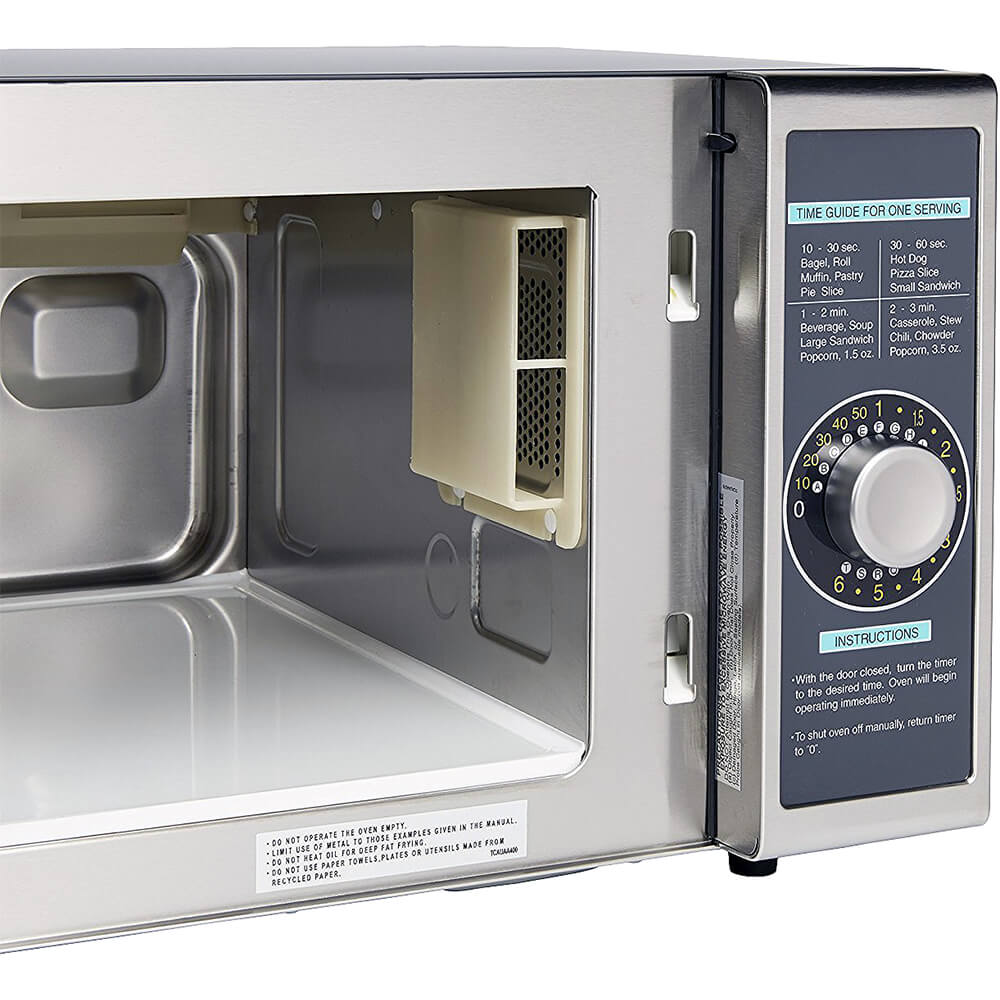 Gray, Medium Duty Commercial Microwave Oven, Dial Timer, 1000 W View 3