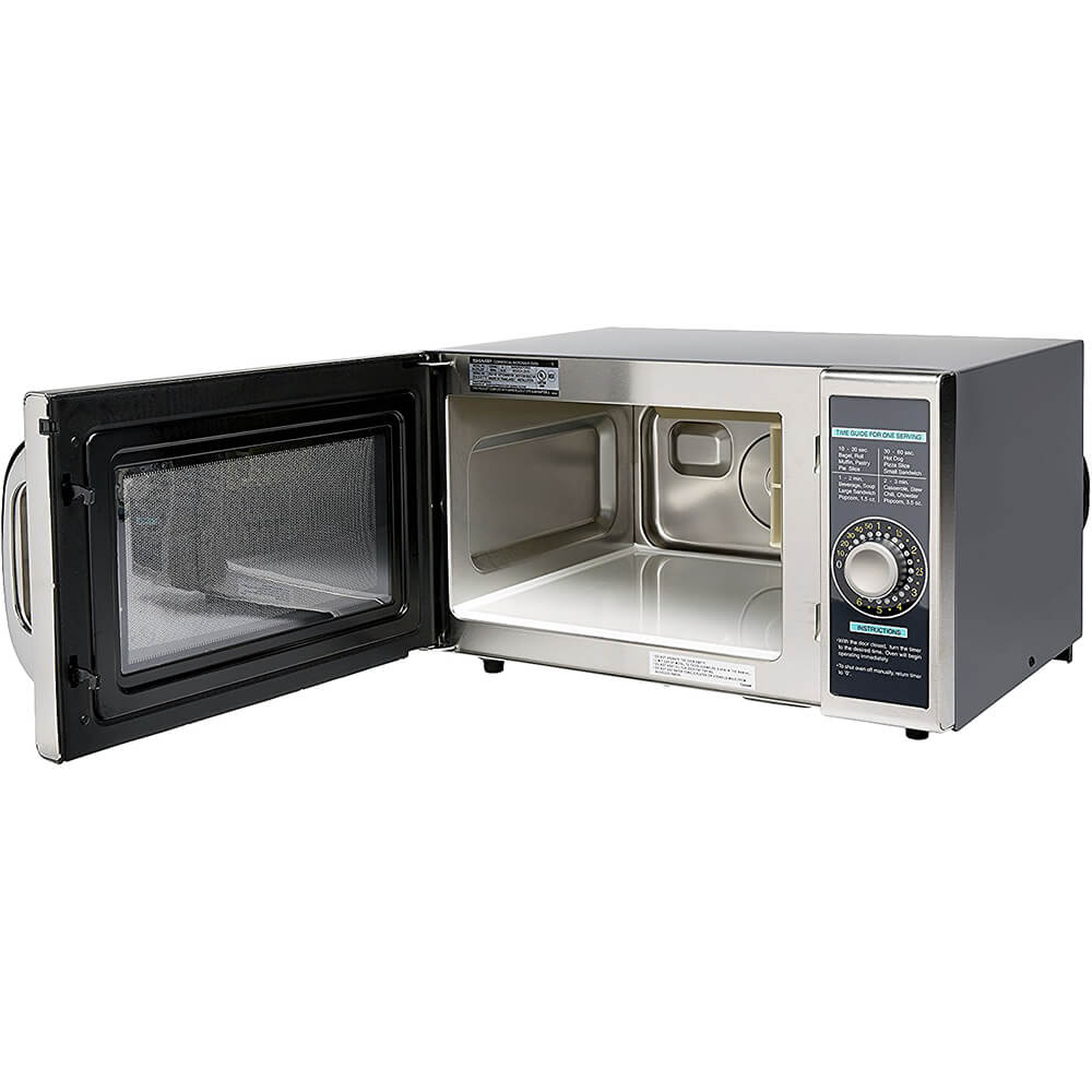 Gray, Medium Duty Commercial Microwave Oven, Dial Timer, 1000 W View 4