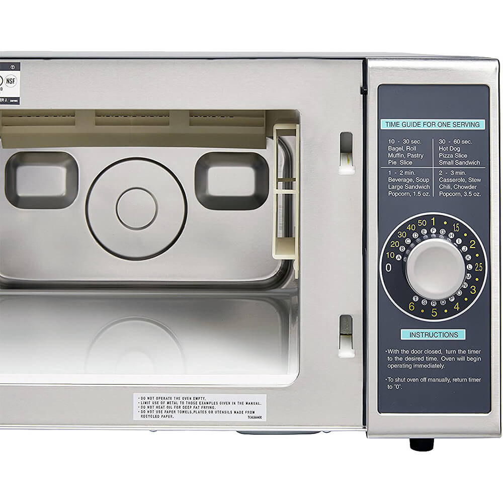 Gray, Medium Duty Commercial Microwave Oven, Dial Timer, 1000 W View 5