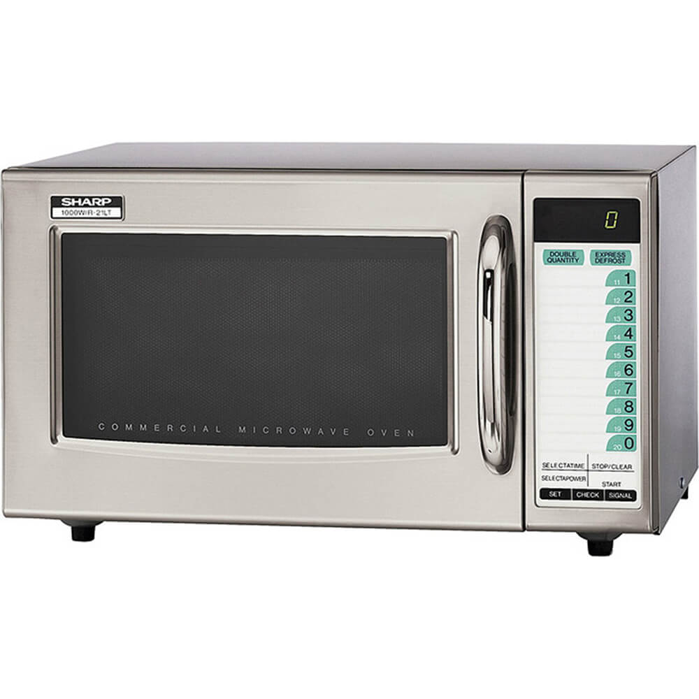 Stainless Steel, Medium Duty Commercial Microwave Oven, 3 Stage Cooking, 1000 W