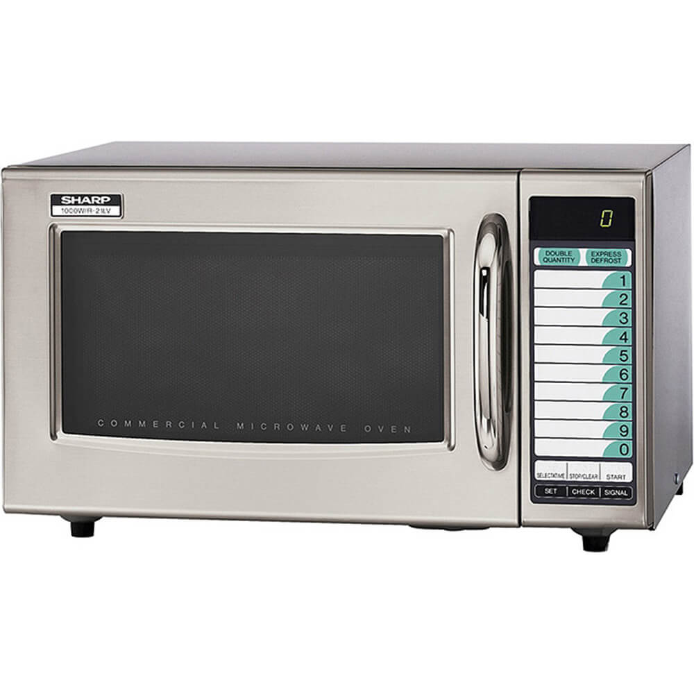 Stainless Steel, Medium Duty Commercial Microwave Oven, Programmable, 1000 W