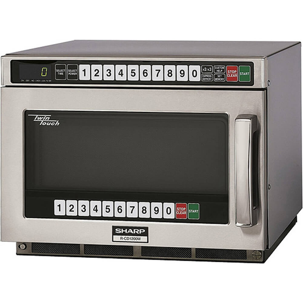 Stainless Steel, Heavy Duty Microwave Oven, Dual Touch Pads, Programmable, 1200 W