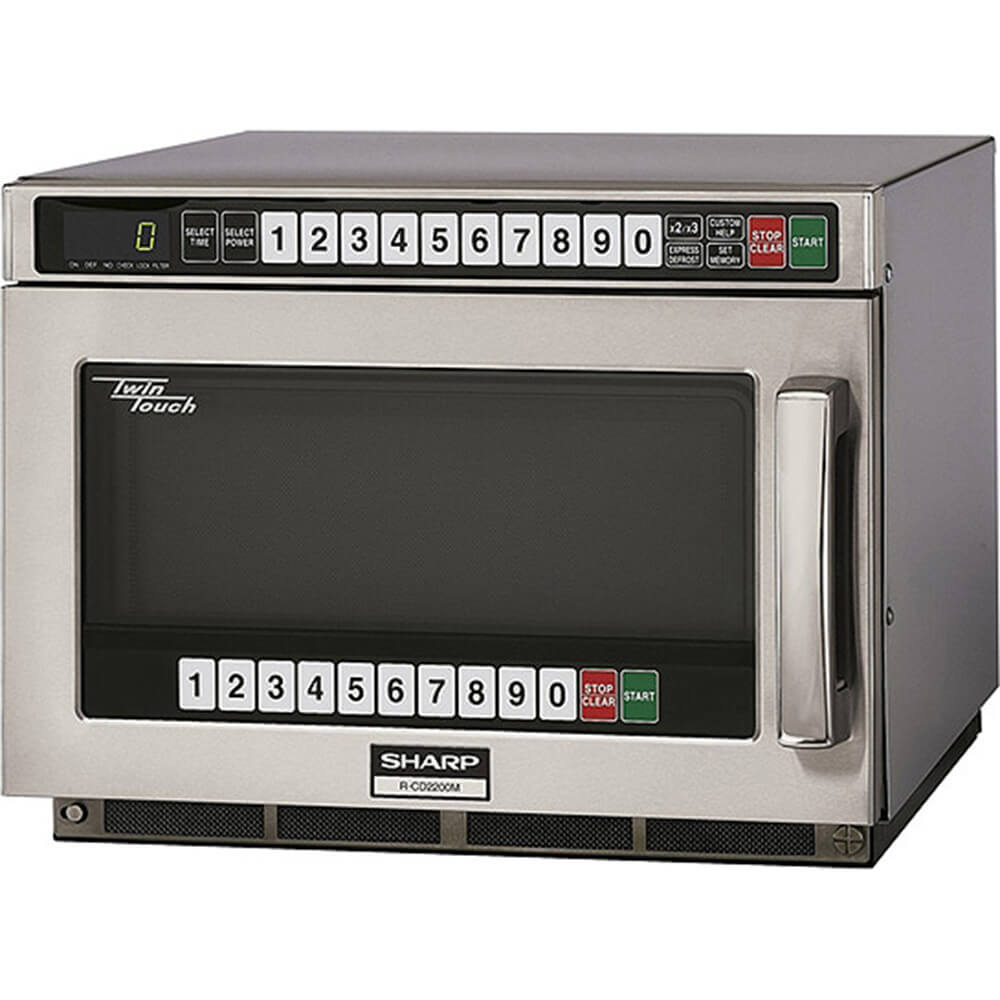 Stainless Steel, Heavy Duty Microwave Oven, Dual Touch Pads, Programmable, 2200 W