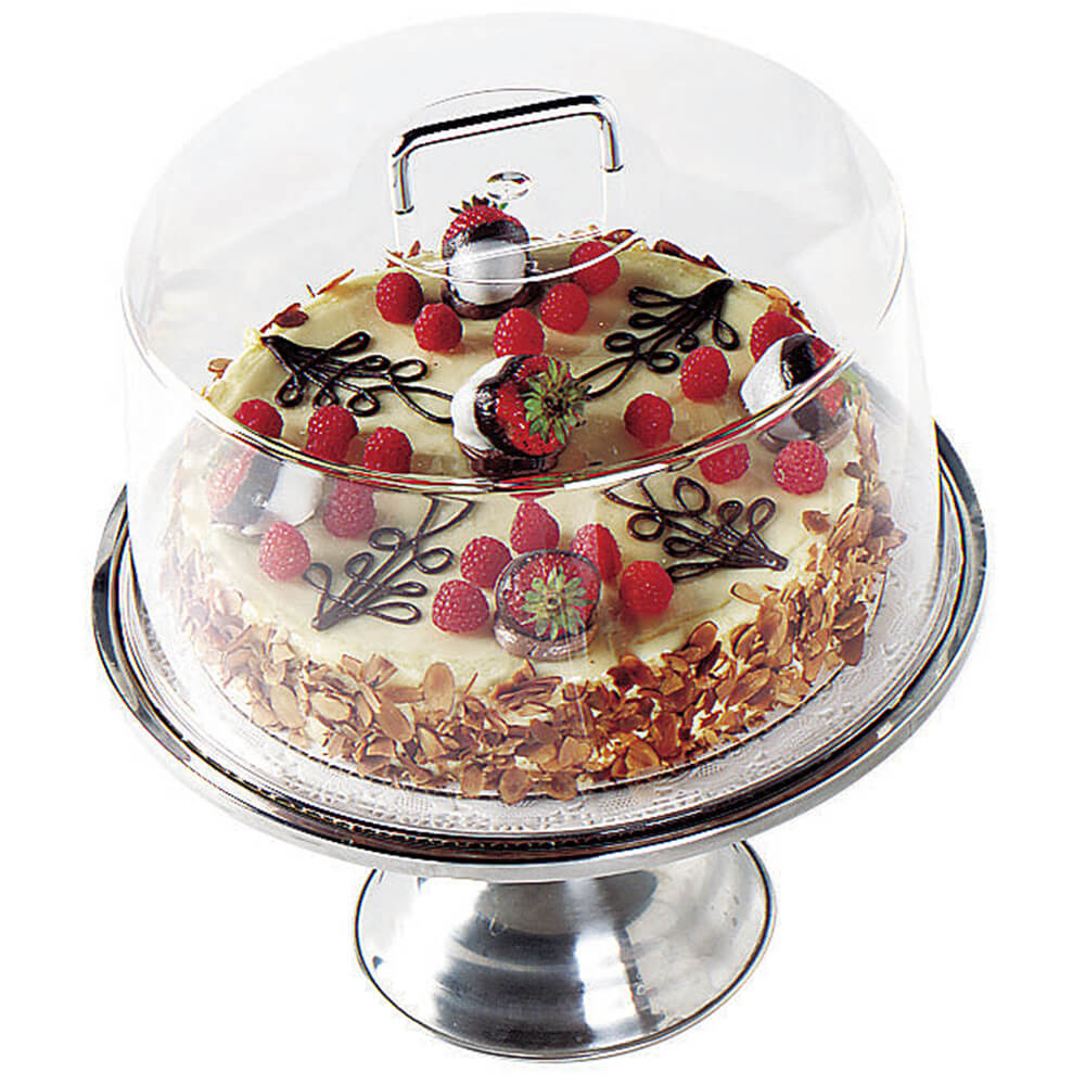 """Clear, 12"""" Round Cake Dome with Handle"""