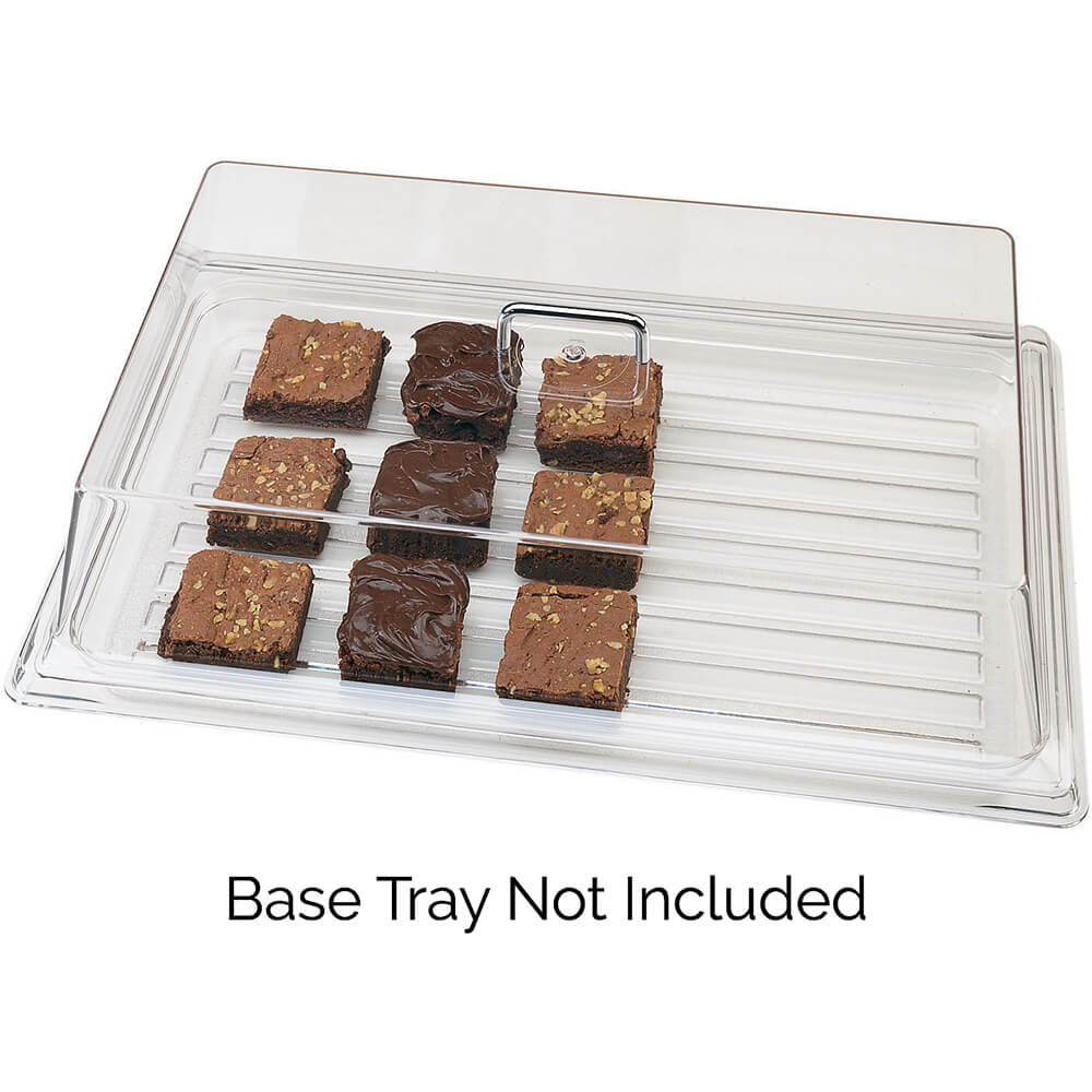 "Clear, Rectangular Food Cover, 18"" x 26"" View 2"