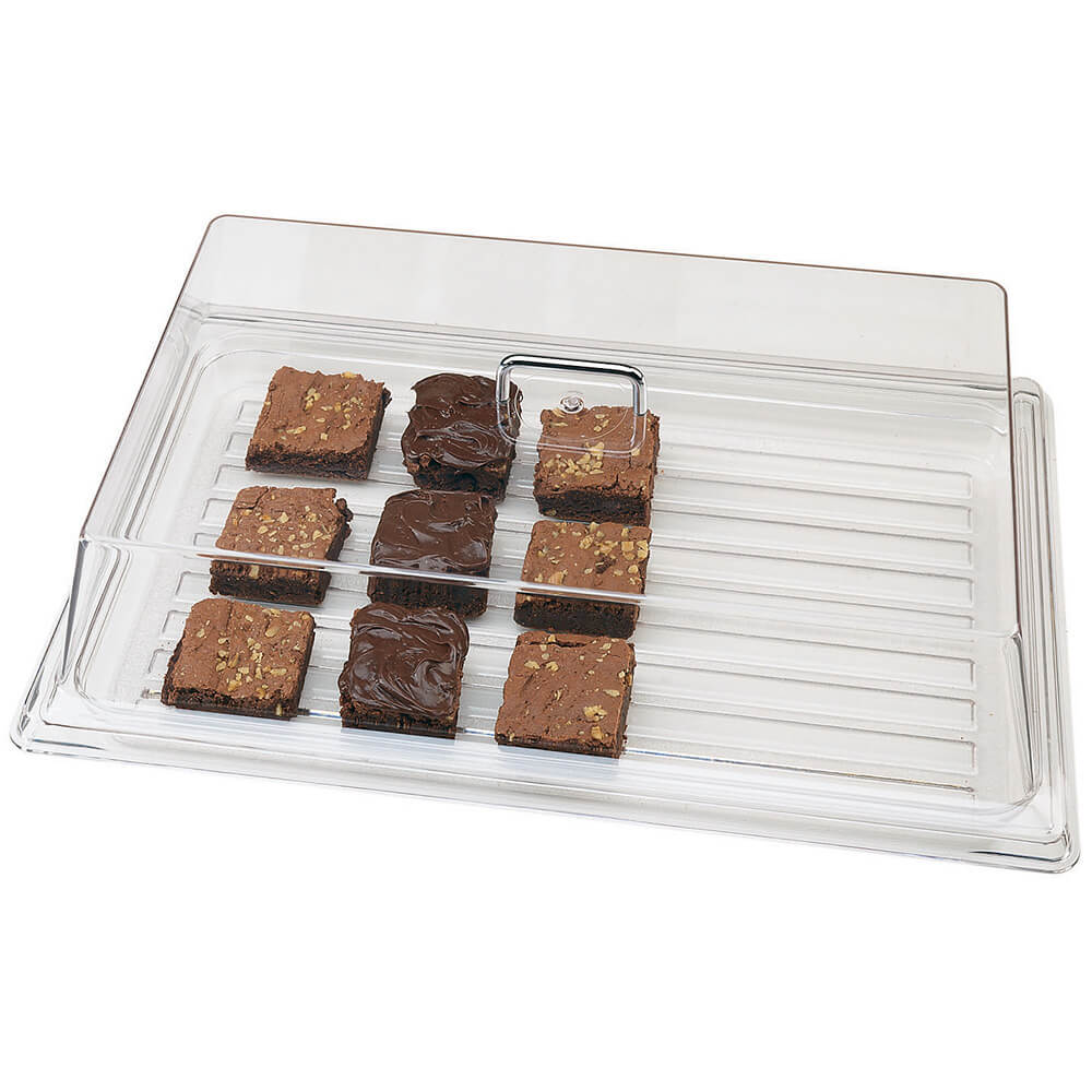 "Clear, Rectangular Food Cover, 9"" x 26"""