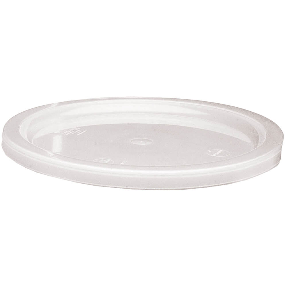 White, Extra Large 12,18 and 22 qt. Lid for Poly Round Containers, 6/PK