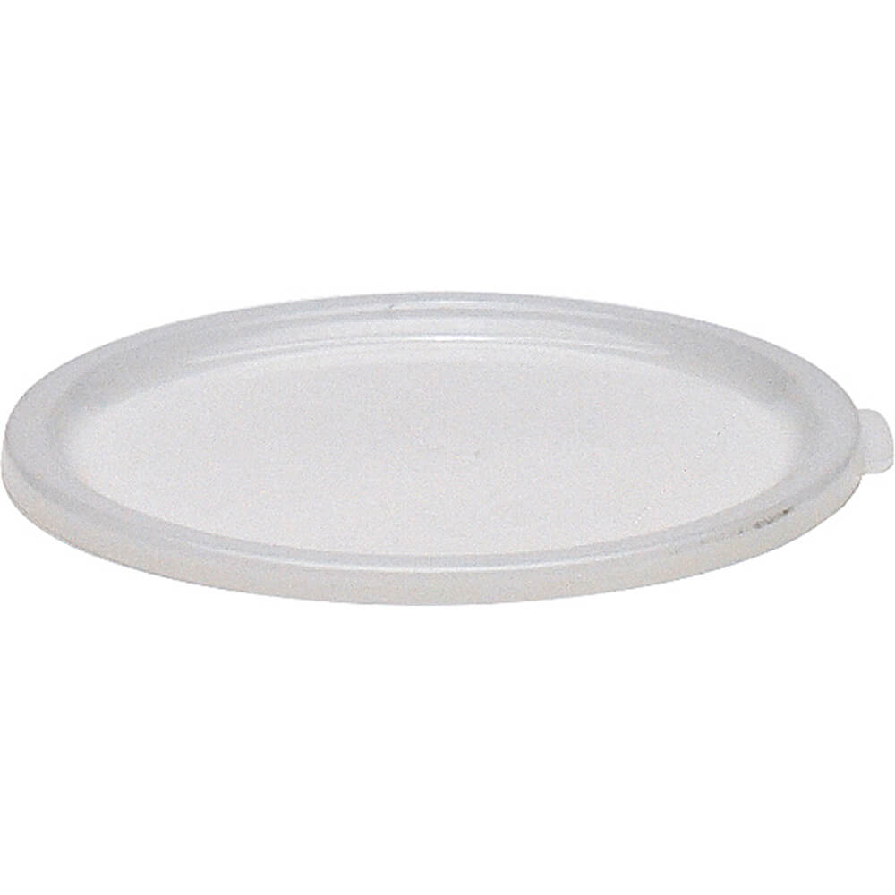 White, Medium 2 and 4 qt. Lid for Poly Round Containers, 12/PK