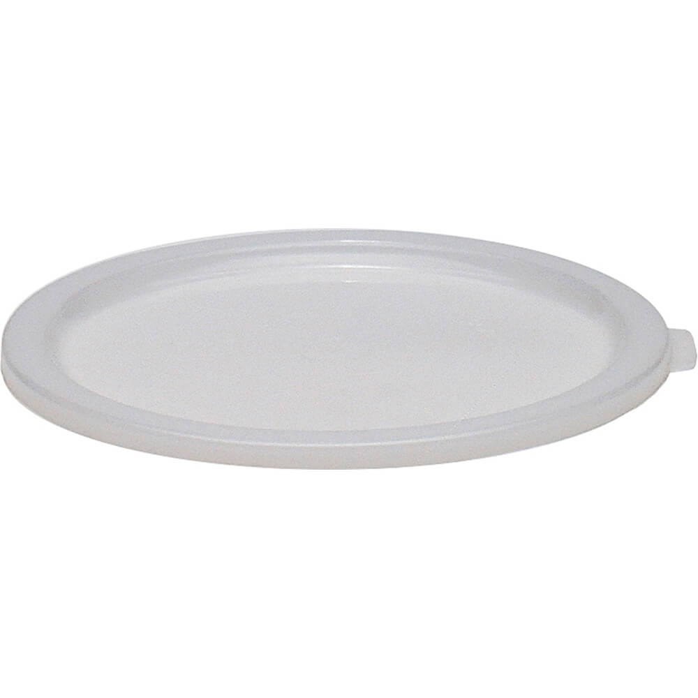 White, Large 6 and 8 qt. Lid for Poly Round Containers, 12/PK