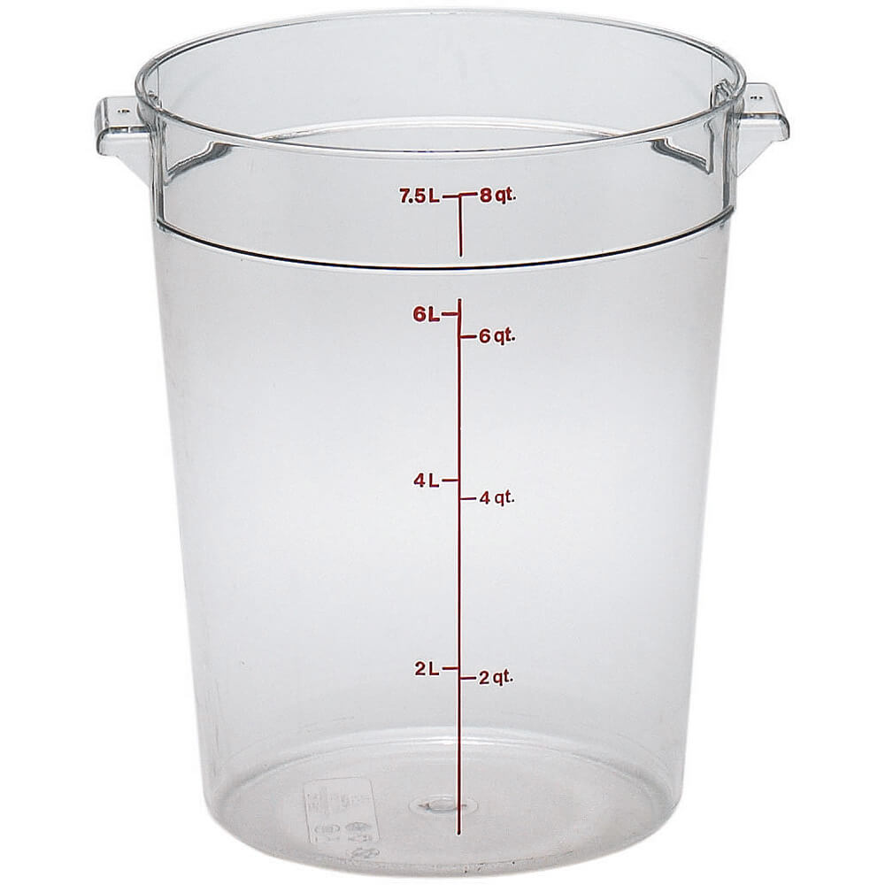 Clear, 8 qt. Camwear Round Food Storage Containers, 12/PK