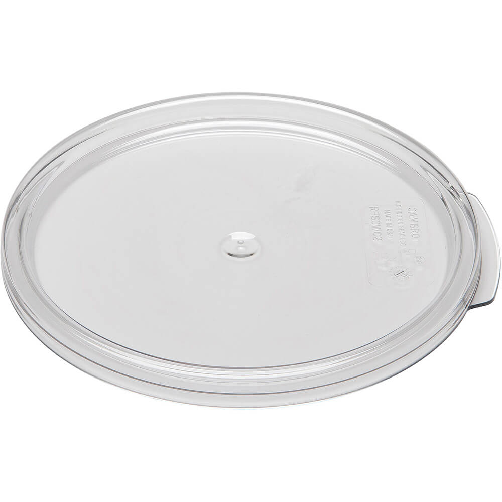 Clear, Medium 2 and 4 qt. Camwear Lids, 12/PK