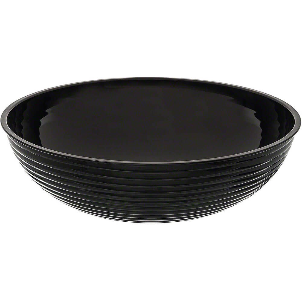 Black, 20.2 Qt. Round Ribbed Bowls, 4/PK